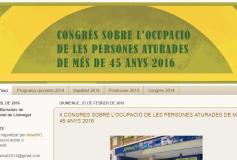 II CONGRES SOBRE L'OCUPACIÓ DE LES PERSONES ATURADES DE MÉS DE 45 ANYS 2016