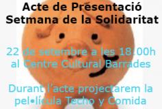 Acte de Presentació III Setmana de la Solidaritat