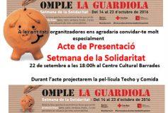 Espai de ciutadania presenta: III Setmana de la Solidaritat