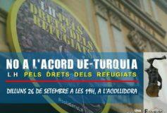 Nova concentració a l'Acollidora per les persones refugiades