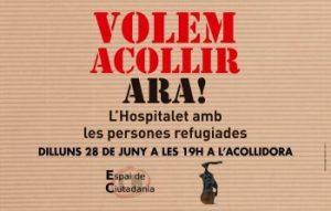 Concentració a l'Acollidora per recordar els Drets de les Persones Refugiades